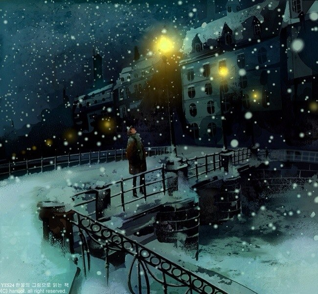 an old mans winter night