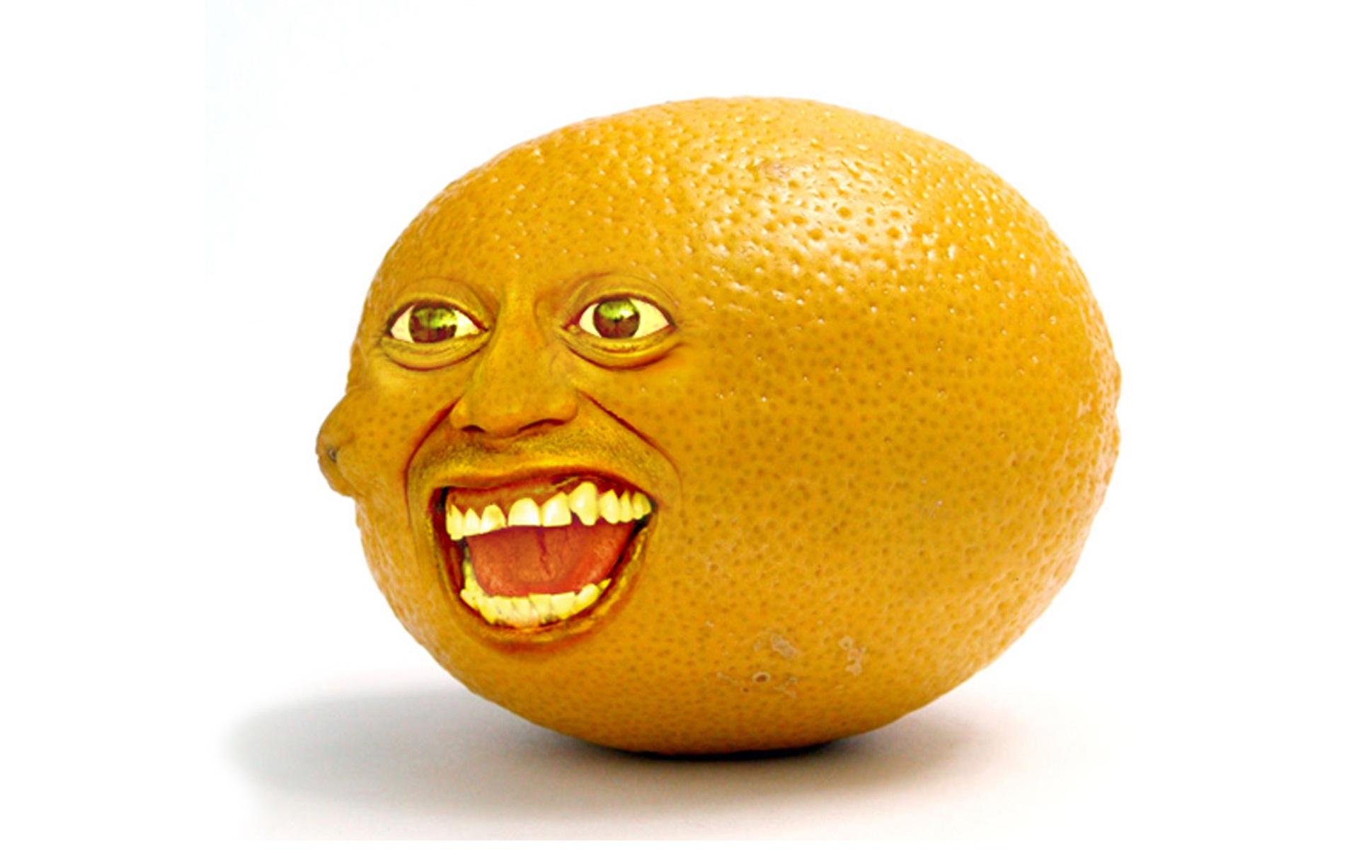 Картинки, прикольные рисунки с апельсином