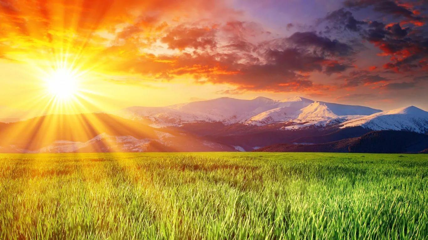 Картинка с небом и солнцем, открытки для