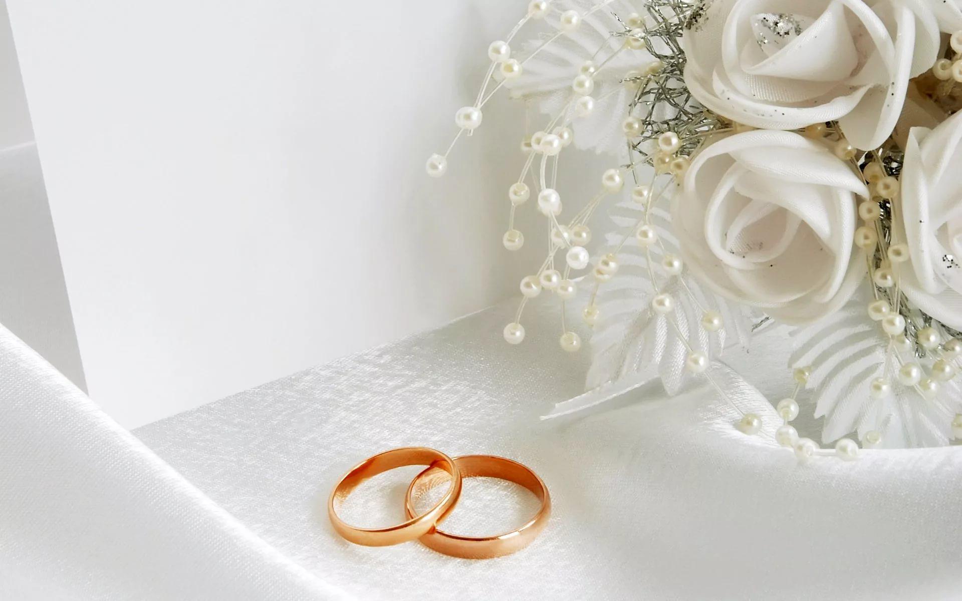 Свадебные открытки с кольцами