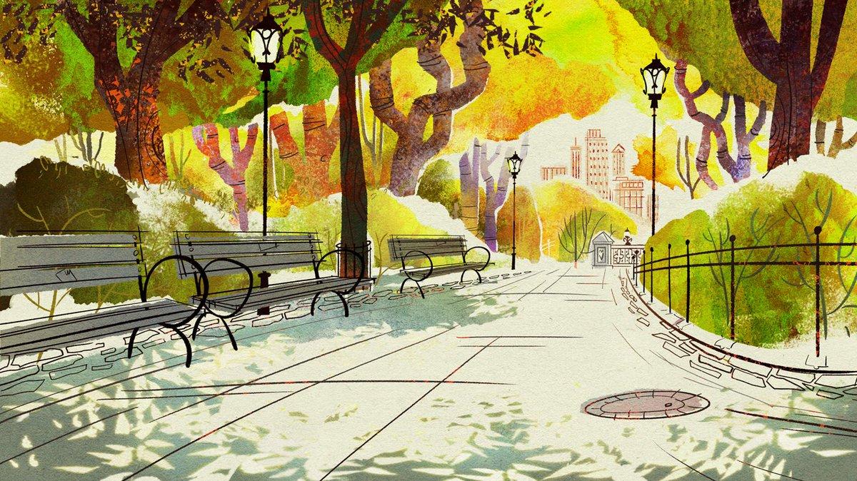 Картинка парка из мультика