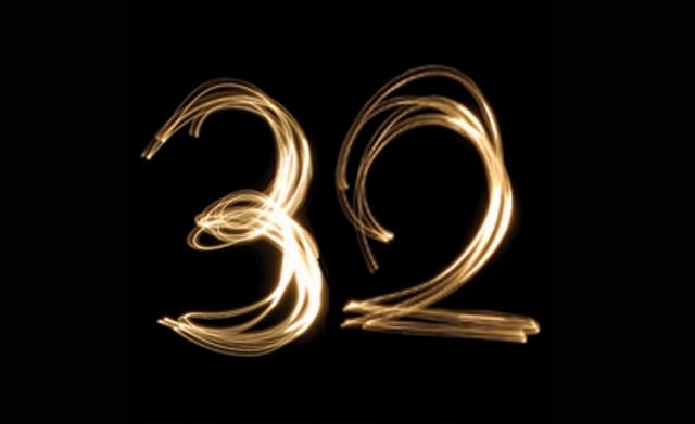 Днем рождения, 32 года день рождения картинка