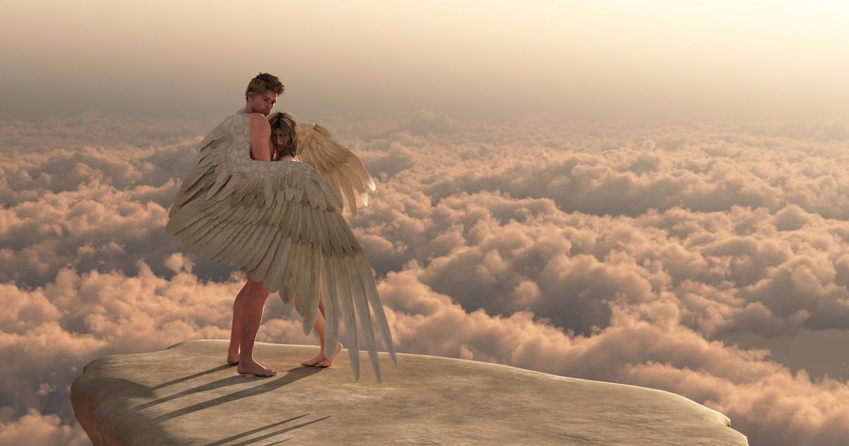 полимерная глина, фотографии обнимающихся ангелов типы
