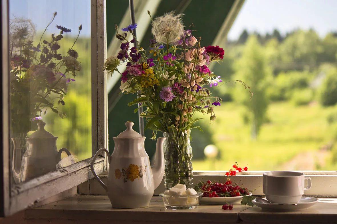 фото кофе весной у окна учитывать размер