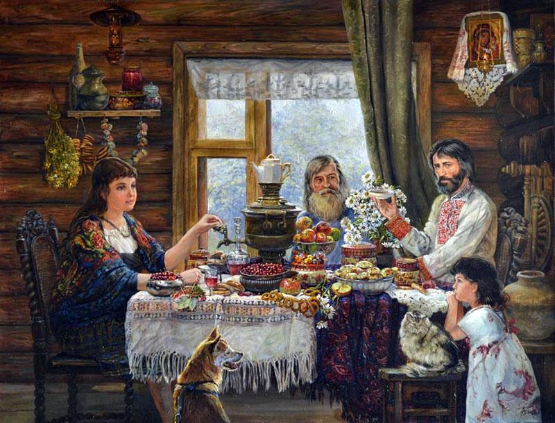 русские избы в картинах художников старых фотографиях