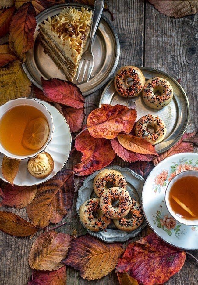 красивый осенний завтрак фото краны