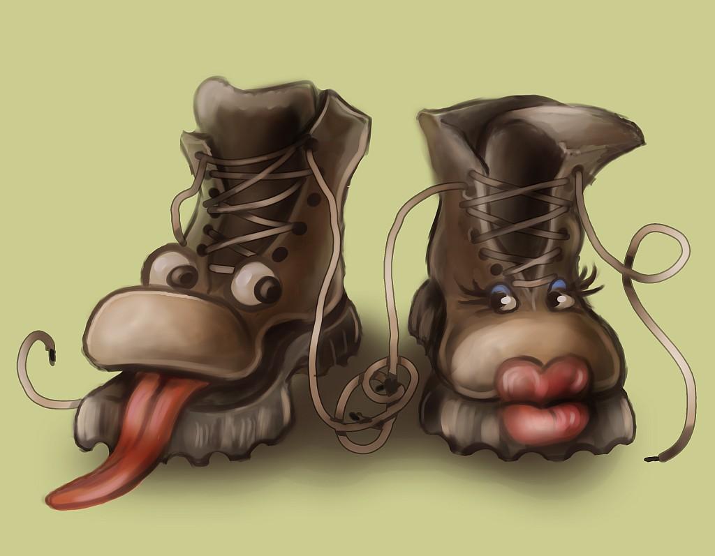 Для, картинка ботинки смешные