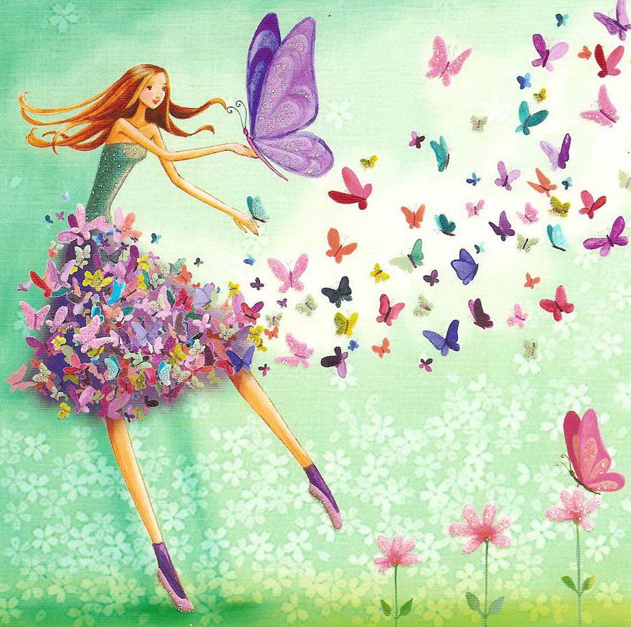Картинки, прикольные открытки с бабочками