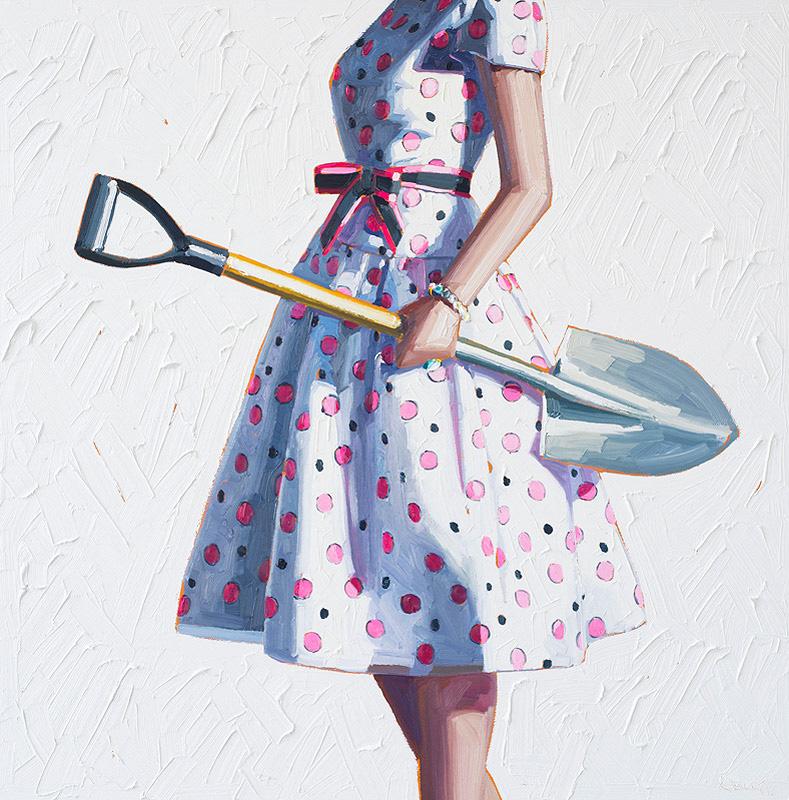 Картинки женщина с лопатой