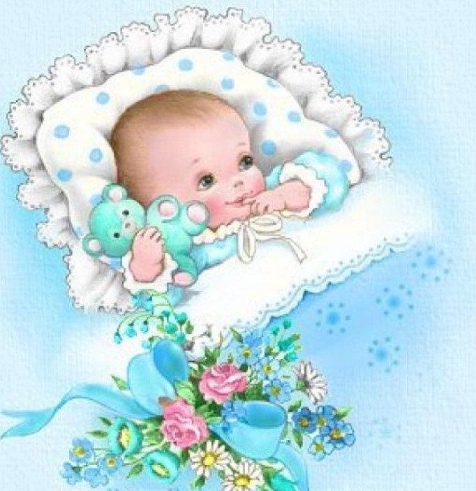 Открытка с новорождены