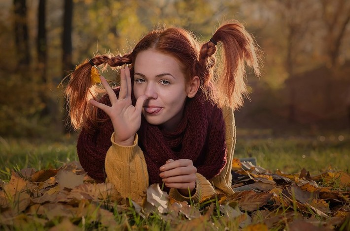 Картинки прикольная девушка осень, анимации мишка тедди