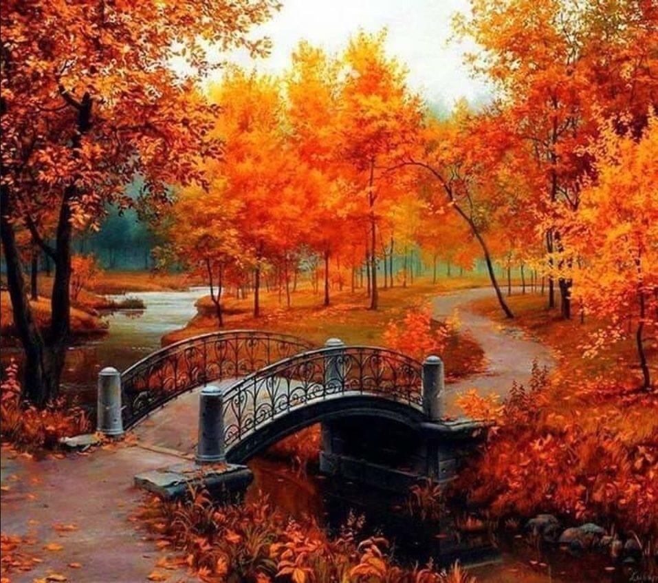 Картинки пейзажные осень, днем рождения музыкальные
