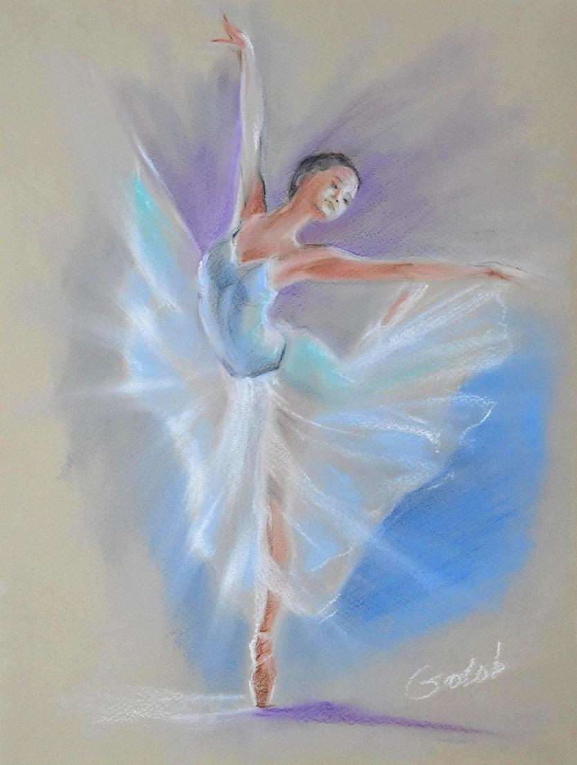 Балерина пастель картинка