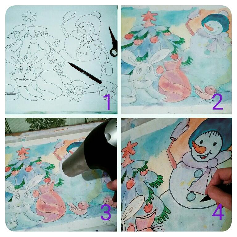 Снеговик, рисунок, иллюстрация, иллюстратор, как нарисовать, картинки, радость