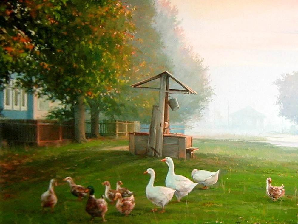 картинки на тему утро в деревне