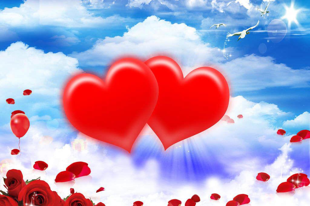 День учителя, открытки о двух сердцах