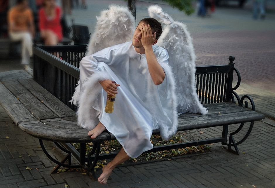 Открытках, картинки о ангелах прикольные