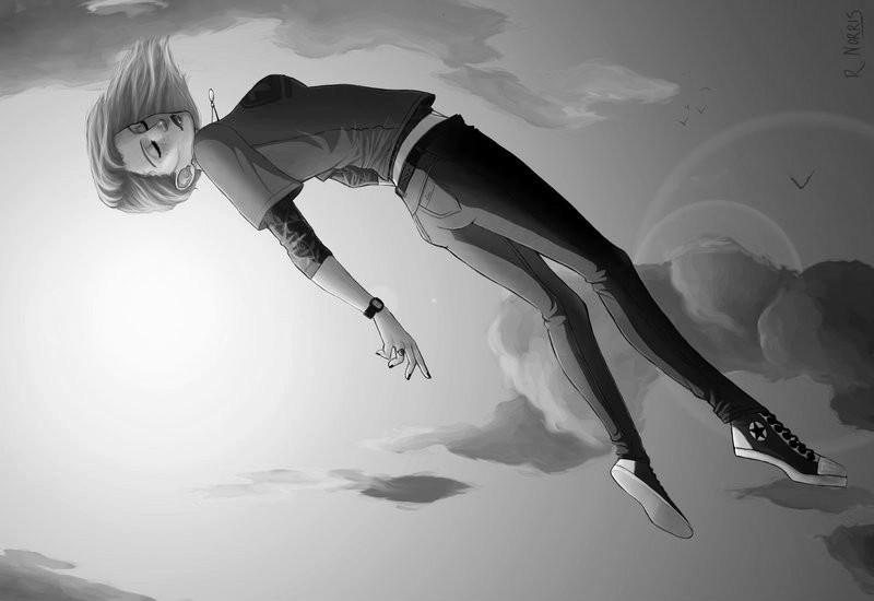 Картинка как девушка падает