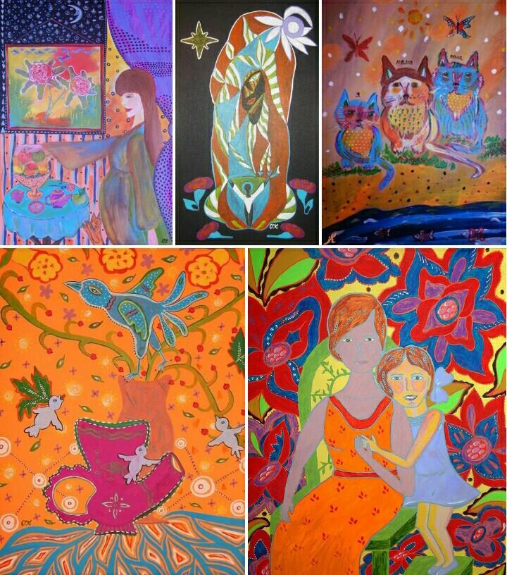 юбилей, картины, наивная живопись, наивисты, наивный художник, с днем матери, купить картины, спб