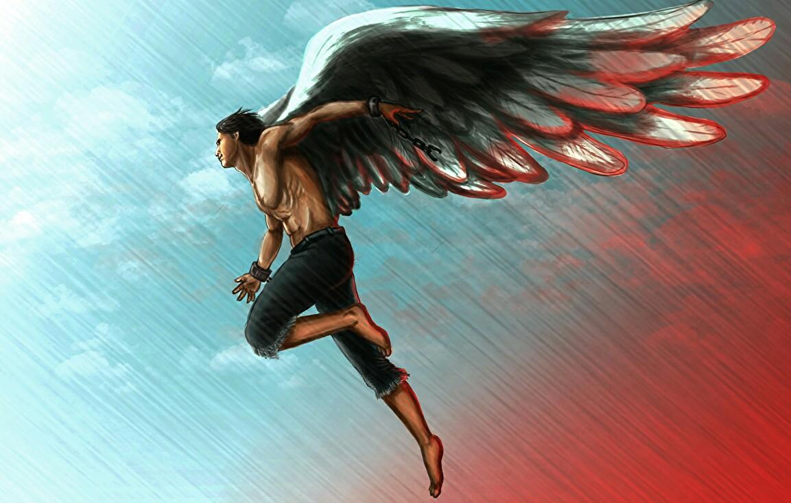 часто летающий человек с крыльями картинки надо