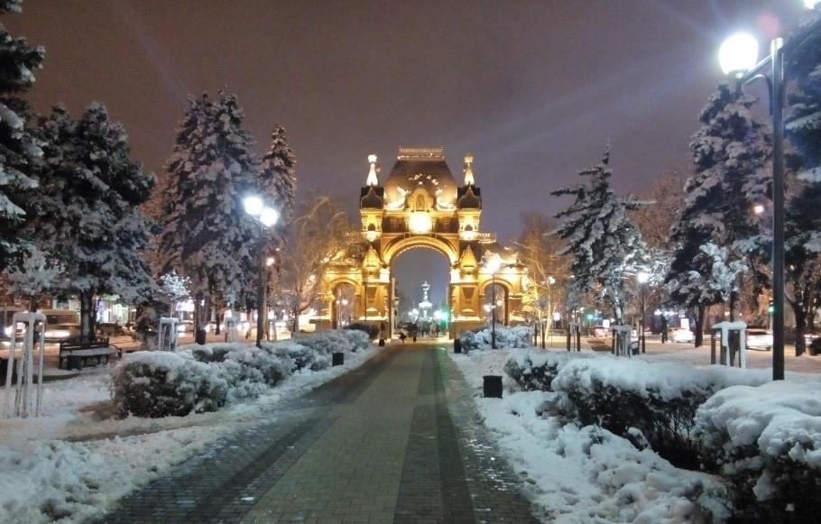 зима в краснодаре фото эйфелевой