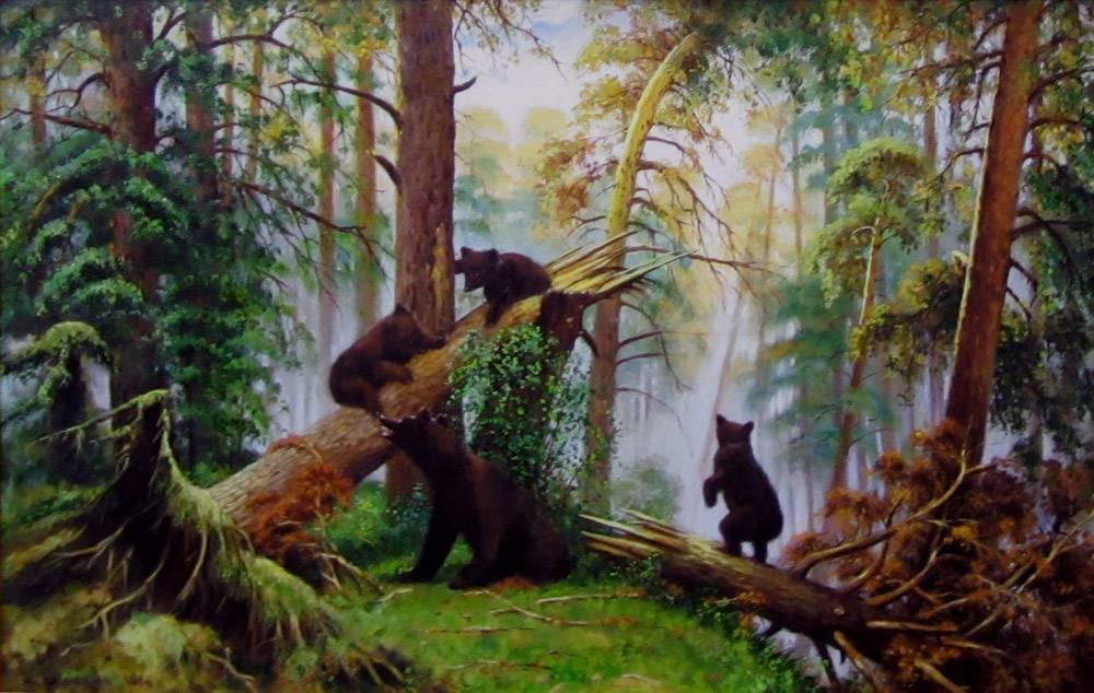обои на рабочий стол три медведя шишкин рассказали, что воды