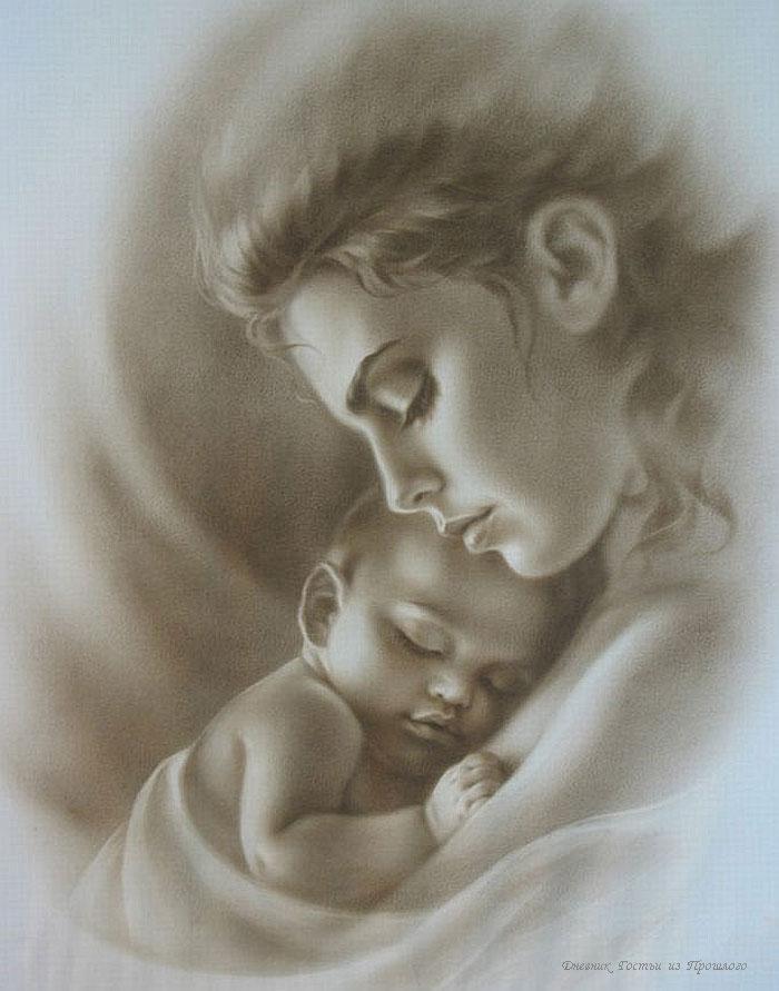 Прикольные, картинки матери с ребенком на день матери