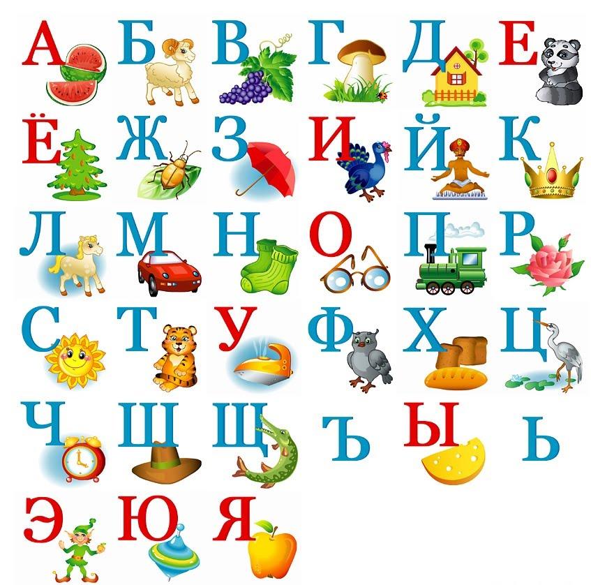 Алфавит картинках малышей