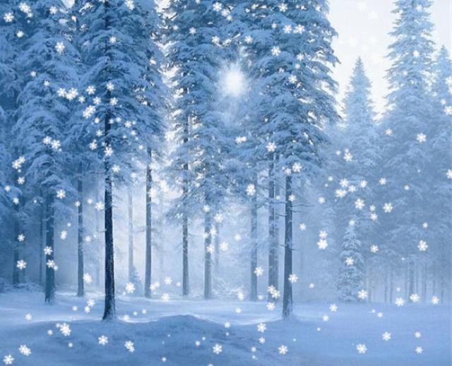 Снегопад картинка анимация