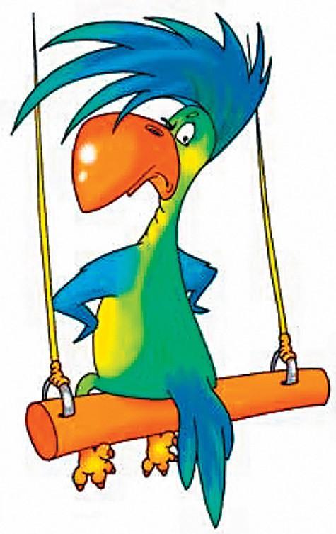 Приколы, прикольный попугай рисунок