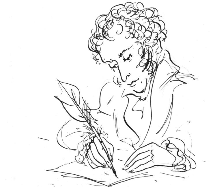 они рисуем пушкина картинки охота