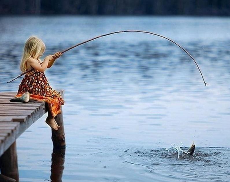 Открытки, картинки на рыбалке с удочкой