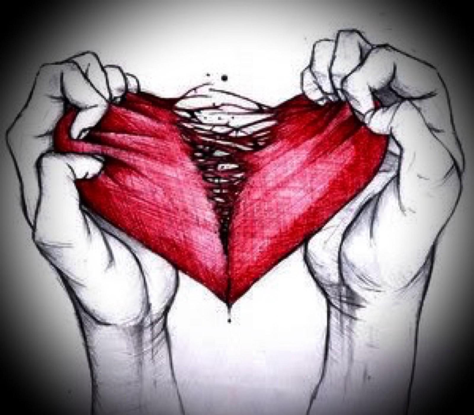 Рваное сердце картинки
