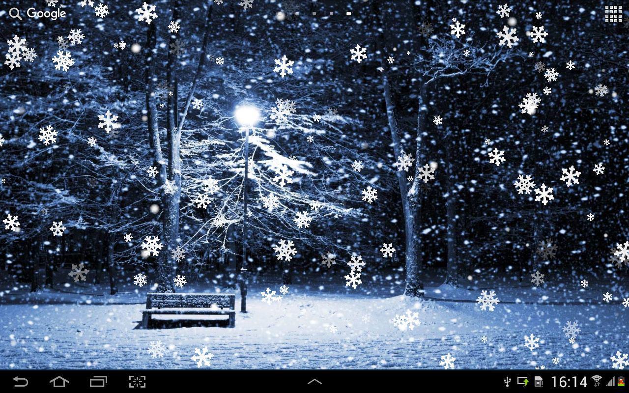 Идет снег анимация картинки
