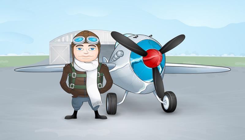 Картинка летчик и самолет для детей