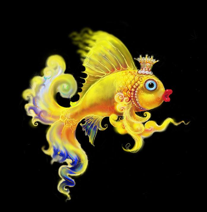 Картинки анимашки золотая рыбка