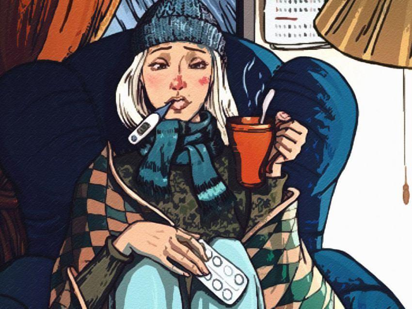 Прикольные картинки про больных гриппом