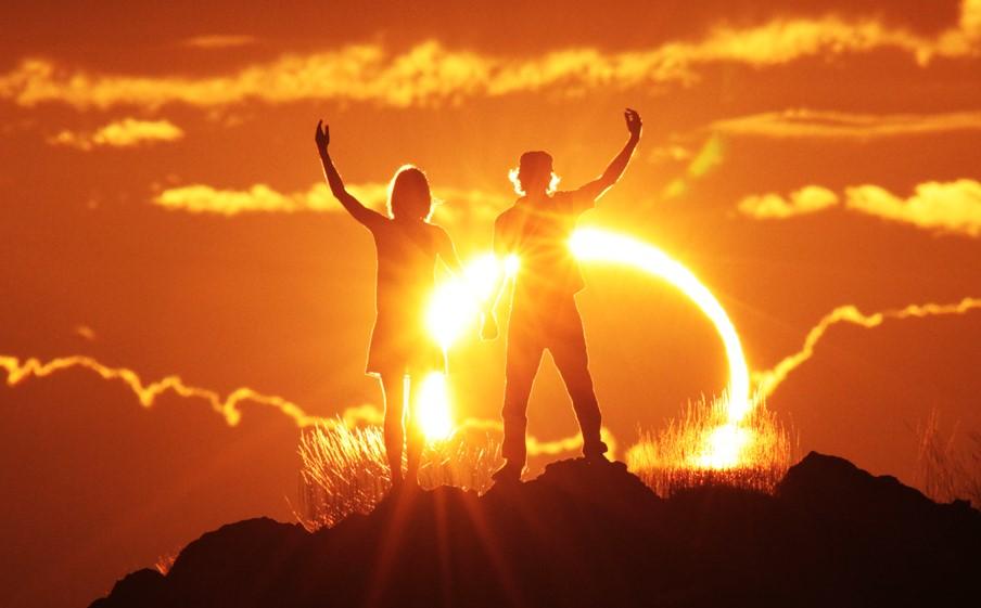 Встреча солнца картинка