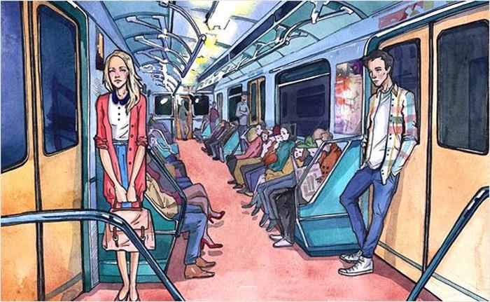 картинки человечки в метро емкости смешиваем соевый