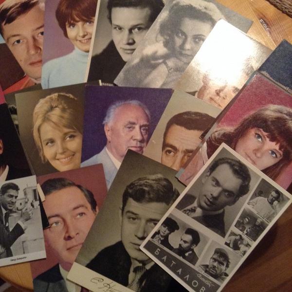 Тему, коллекция открыток с актерами