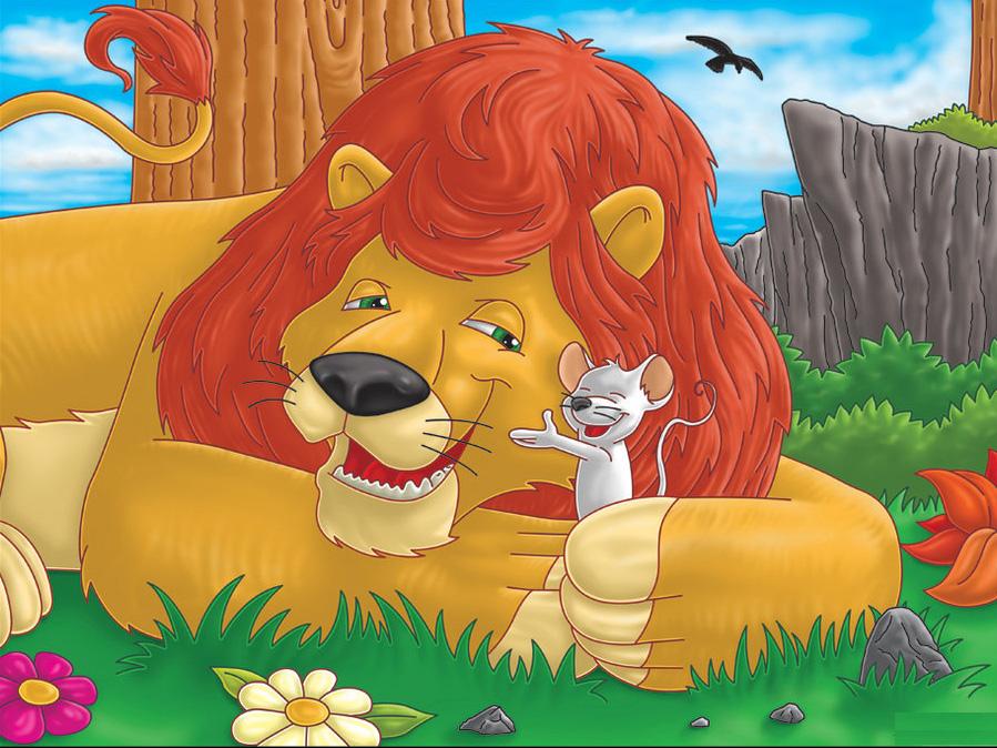 лев и мышь сказка с картинками мельком тех, кто