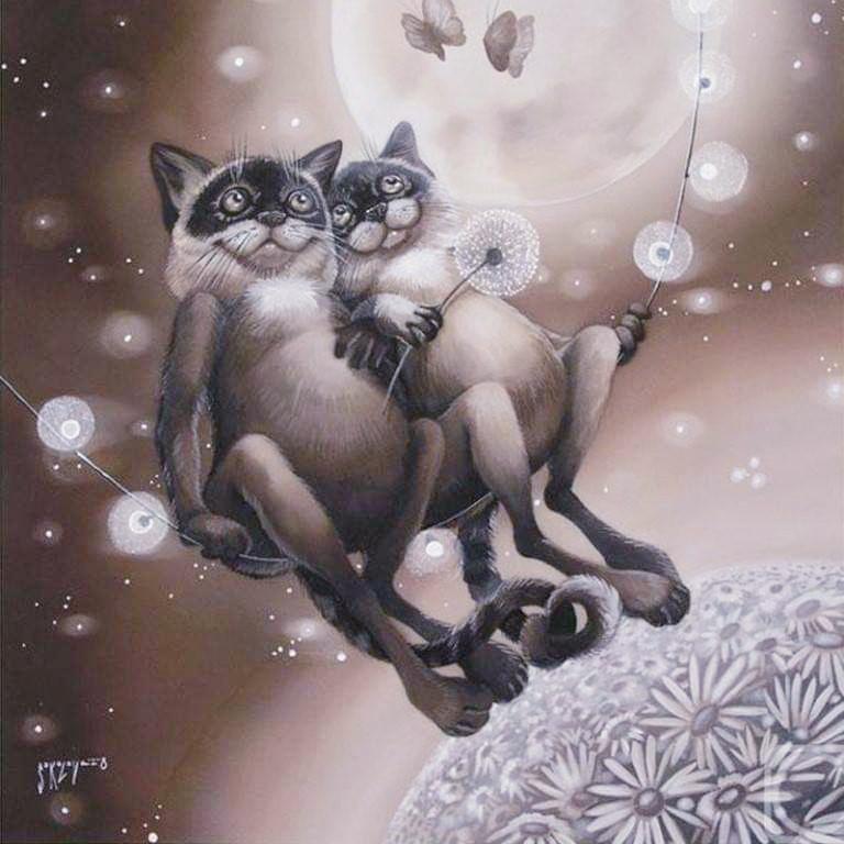 покупная красивые рисунки котов и кошек пара границы татарстаном