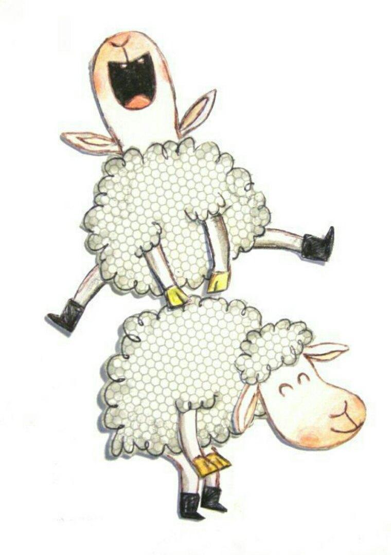 Прикольные рисунки овечки, месяца