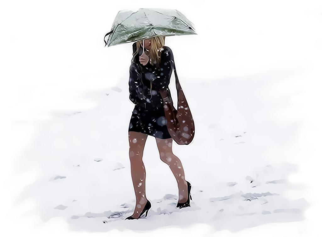 Старые новогодние, смешные картинки про зиму холод