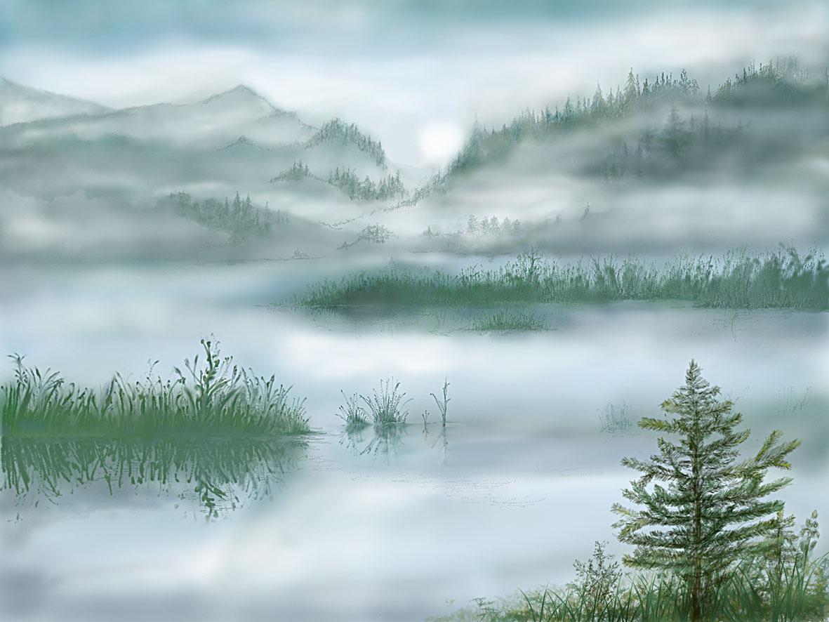 картинки иллюстрации туман отчаянно хочет
