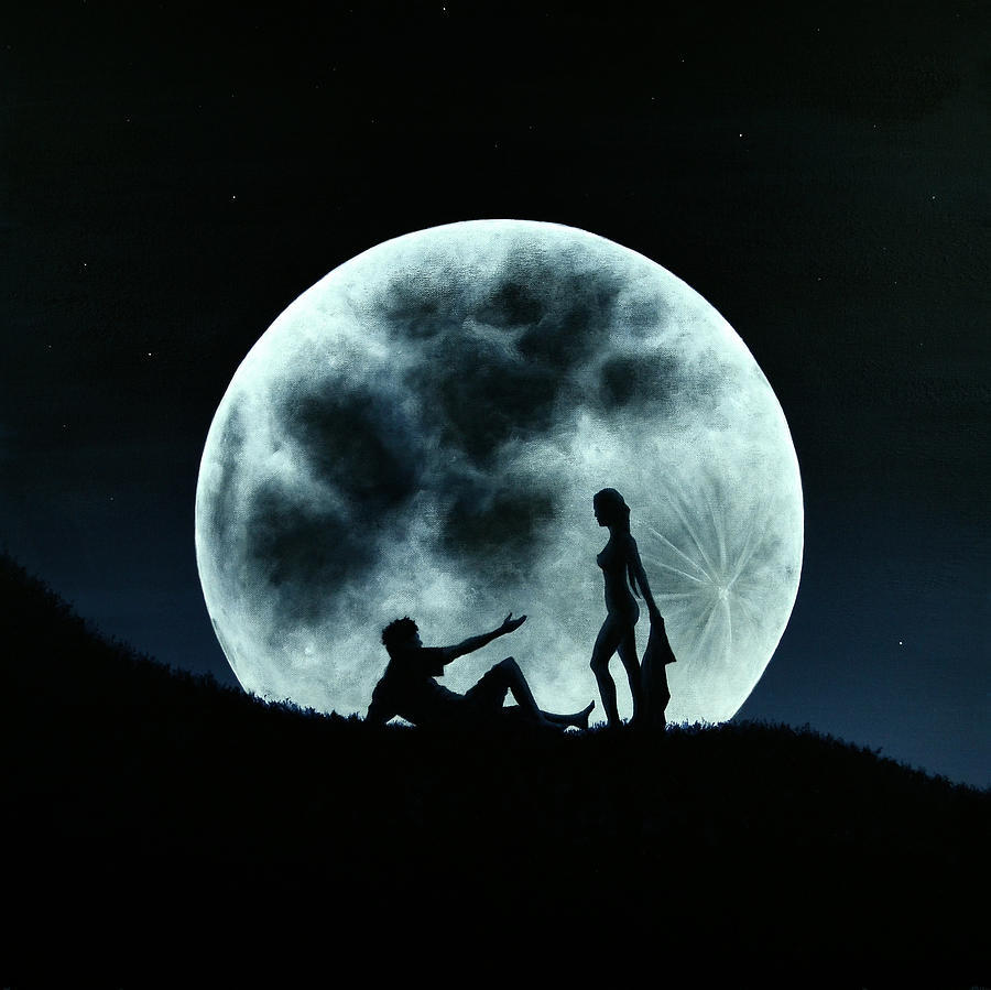 Фото В Ночи При Луне Обнаженные Женщины
