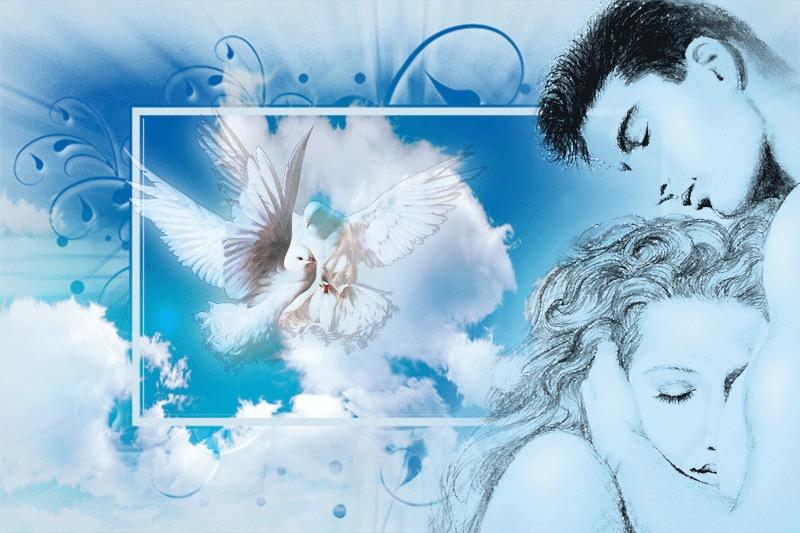 Открытка поцелуй меня милый ангел мой