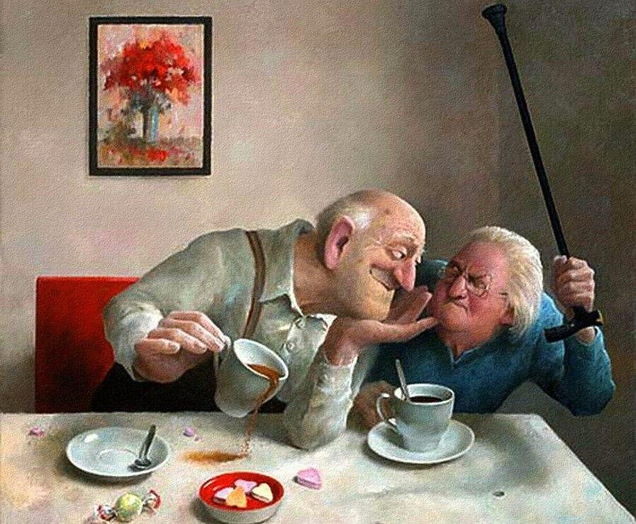 Смотреть прикольные картинки про бабушек и дедушек про любовь, открытки марта