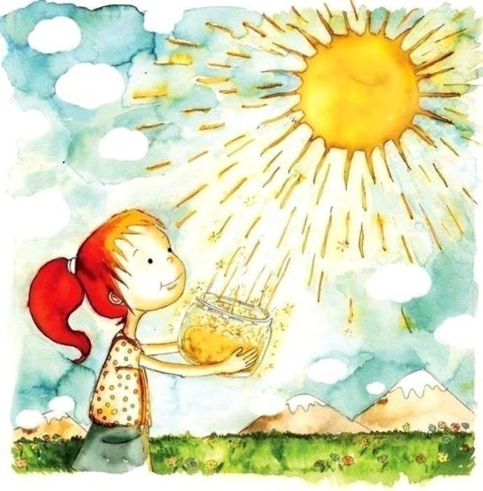 Картинка теплое солнышко