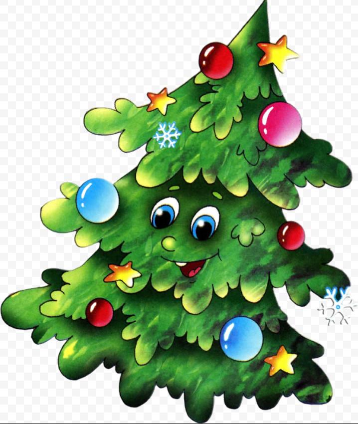 Картинки елки новогодние для детей